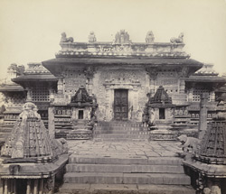 Views in Mysore. Bailoor Temple [Chennakeshava Temple, Belur]. The east entrance